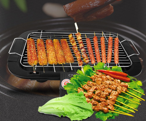 Easy clean electric bbq grills