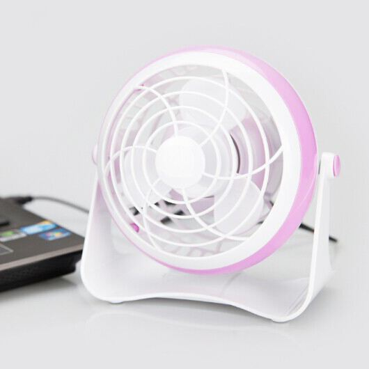 4'' USB 4AA Battery and USB Charging Plastic-ABS Fan