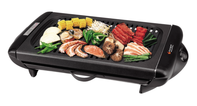 Multifunction non-stick coating Electric BBQ Grill with 2 grill plates and glass lid, pass CB,CE,EMC,LVD, ETL, GS, RoHS, LFGB certificates