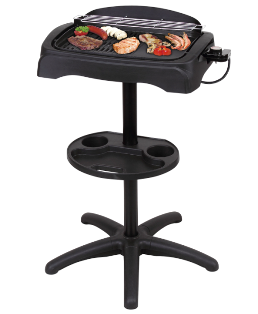 Innovation digital non-stick coating Electric BBQ Grill can be used on table or on the ground, pass CB,CE,EMC,LVD, ETL, GS, RoHS, LFGB certificates