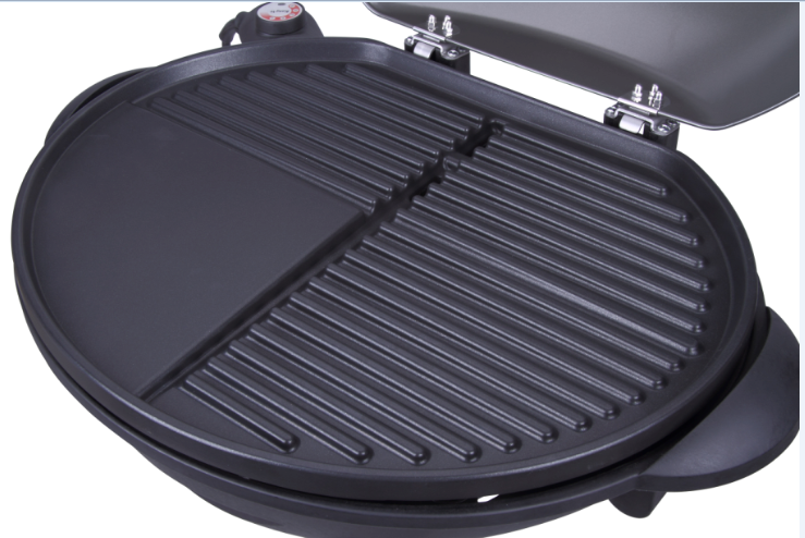 Innovation non-stick coating indoor & outdoor Electric BBQ Grill with stand, pass CB,CE,EMC,LVD, ETL, GS, RoHS, LFGB certificates