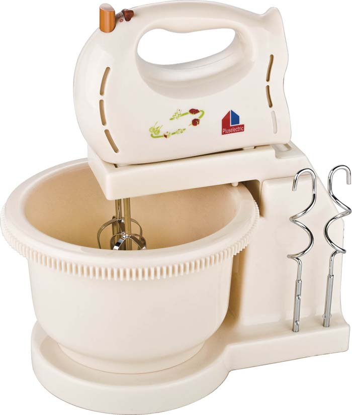 Powerful motor, hot sale design, plastic housing,kitchen use, hand mixer, egg mixer, egg beater with bowl