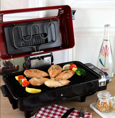 Multifunction healthy Fish roaster with adjustable thermostat can grill variety of meats, poultry, sausage, seafood, and vegetables