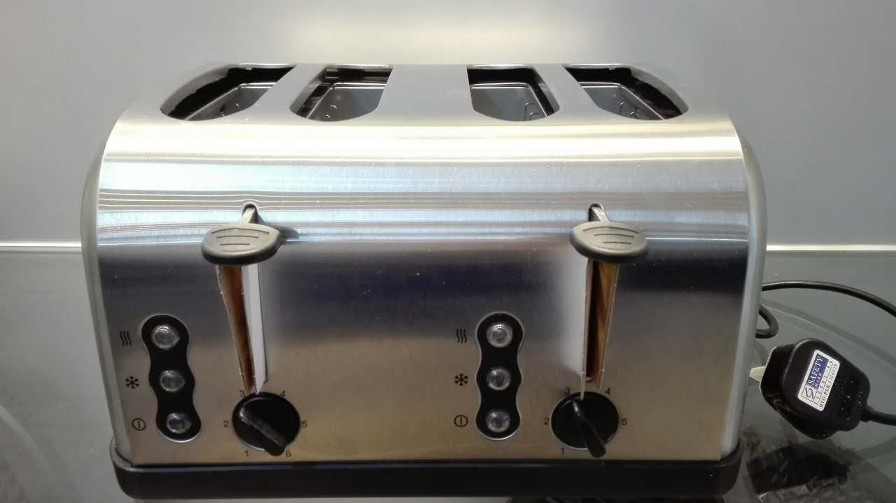 Electric 4 slice toaster with CE/RoHS/ approved